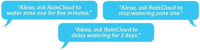 Raincloud Amazon Alexa Commands