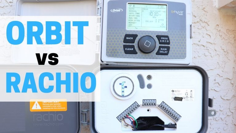 What's the BEST Sprinkler Controller? Rachio vs Orbit